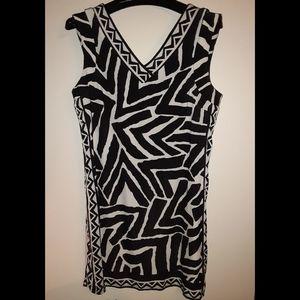 INC Black and white dress